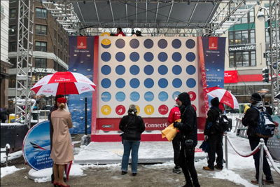 Outdoor Interactive Game Experience and Signage