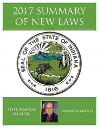 2017 Summary of New Laws - Sen. Buck