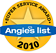 2010 Angies List Super Service Award