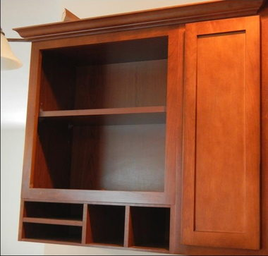 24″ OVERHEAD OPEN BOOKSHELF