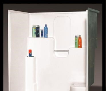 60IN. SHOWER WITH SLIDING ENCLOSURE-BONE/WHITE