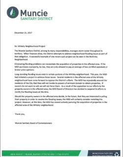 For Immediate Release: Whitely Neighborhood Project Update