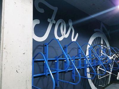 Garage Bike Lock Wall Graphics