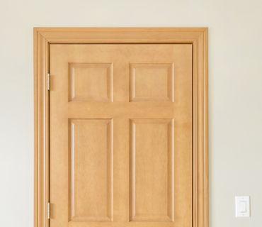 SOLID CORE DOOR WITH AMBER PINE TRIM