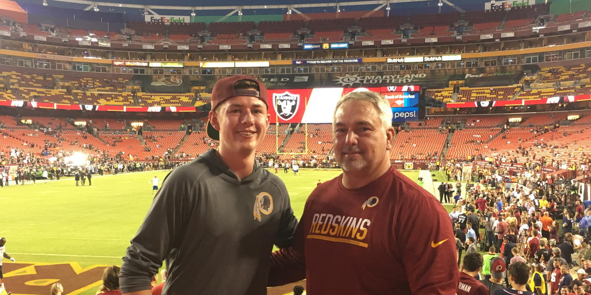 64d6b06f JDRF Service Leads to Redskins Ticket Surprise
