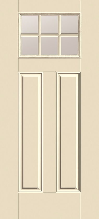 THERMA TRU SIX LIGHT, RAISED PANEL EXTERIOR DOOR