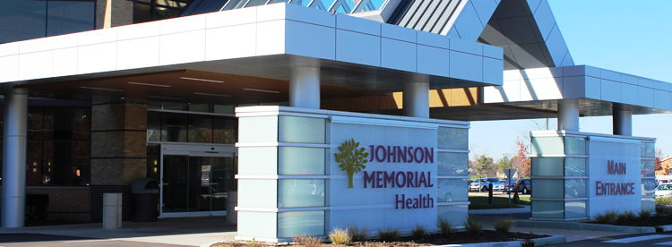 Johnson Memorial Health entrance door