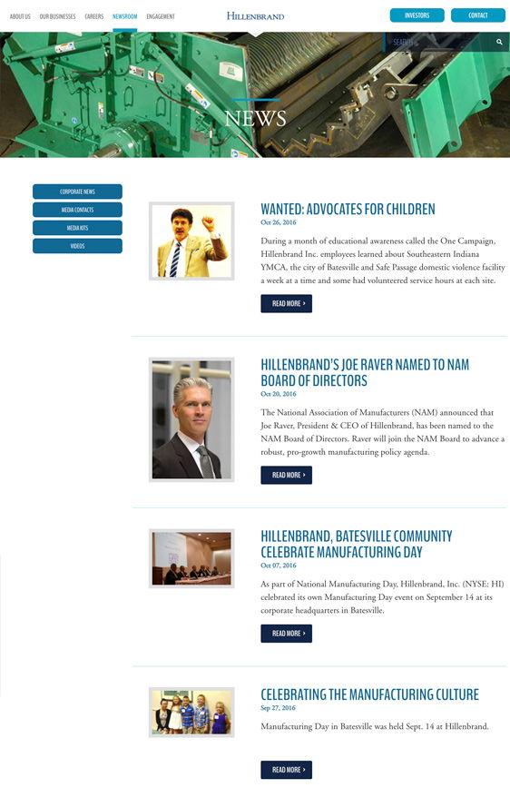Hillenbrand Project - Newsroom