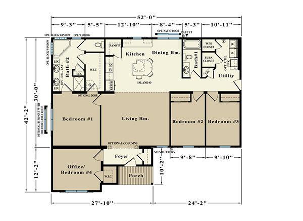 Roosevelt EJR-24 Floor Plan