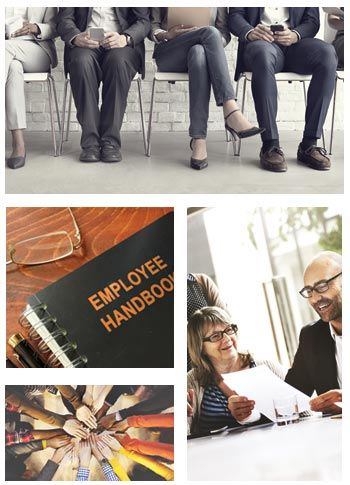 Collage of labor employment law items