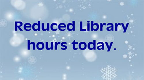 Image for Reduced Hours