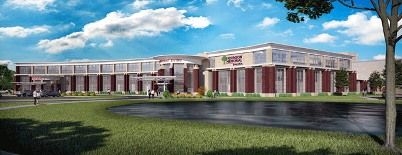 Exterior rendering of future Emergency Department and Outpatient Facility