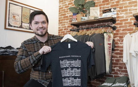 Image for Open for Business: Frederick Bound sells Frederick-themed T-shirts and more