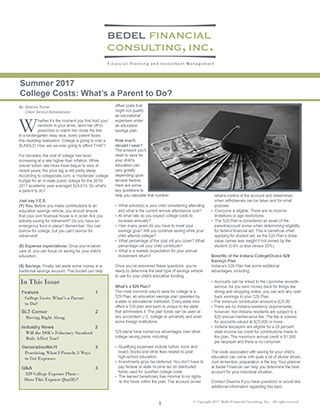 Image for 2017 Summer Newsletter
