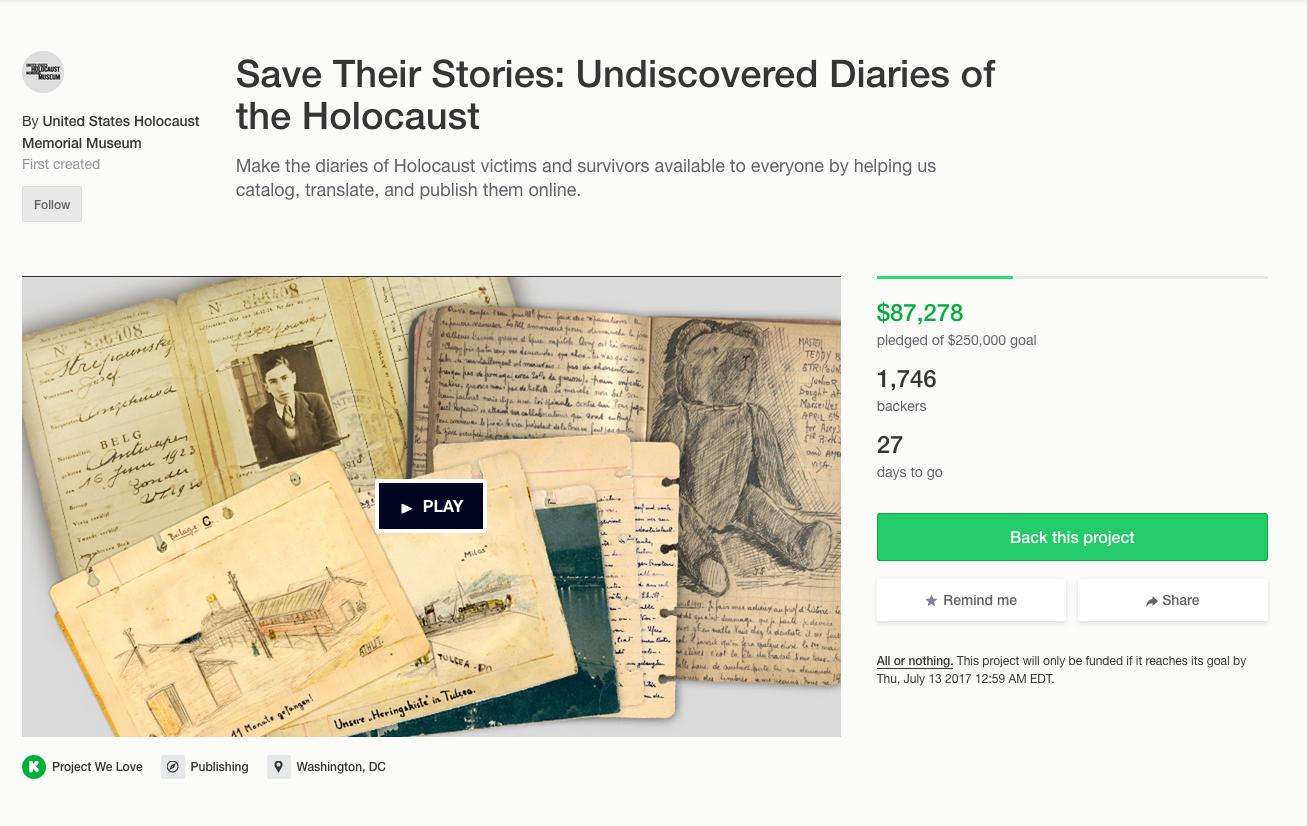 see their stories kickstarter campaign