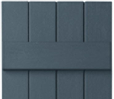 OPTIONAL BOARD & BATTEN SHUTTER - DARK NAVY