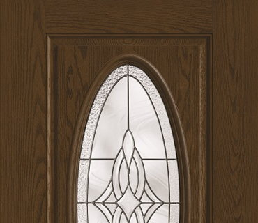 THERMA TRU DECORATIVE OVAL WOOD GRAIN DOOR