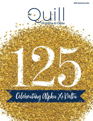 Cover of The Quill of Alpha Xi Delta 125th Anniversary Edition