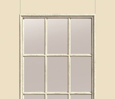 THERMA TRU NINE LIGHT, GRIDS BETWEEN GLASS EXTERIOR DOOR