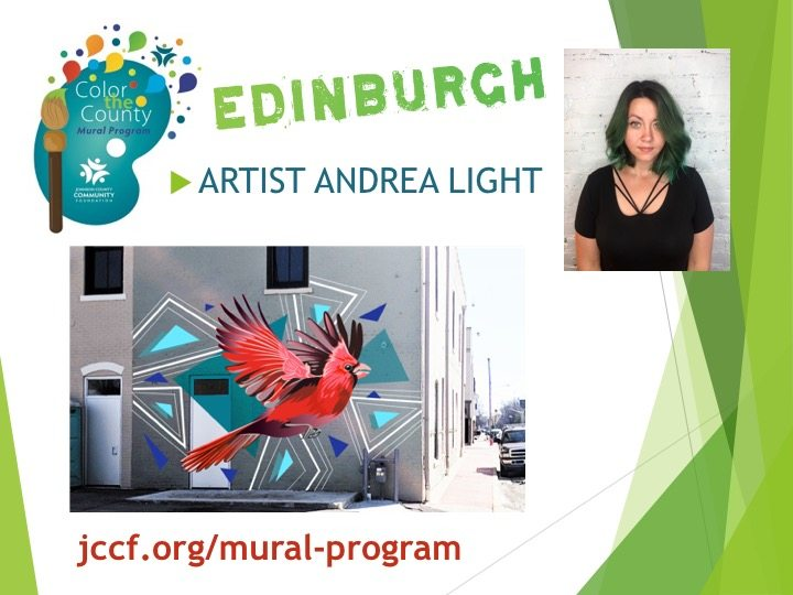 2018 Color the County Edinburgh mural artist and design
