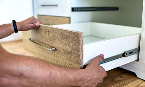 side-mount track drawer