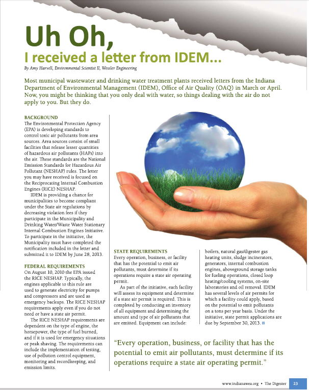 Uh Oh, I Received a Letter from IDEM
