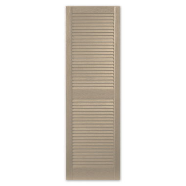 STANDARD LOUVERED SHUTTERS-PEBBLESTONE CLAY