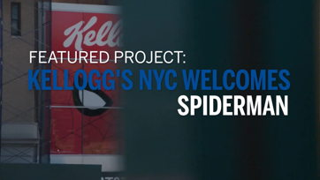 Image for Kelloggs NYC Welcomes Spiderman