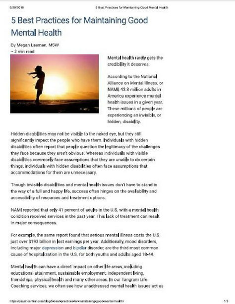image of Psych Central article and woman's silhouette against sunset