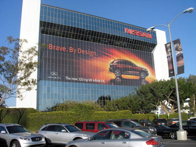 Nissan Building Graphics