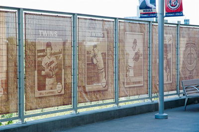 Semi-Transparent Mesh Fence Banner