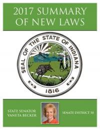 2017 Summary of New Laws - Sen. Becker