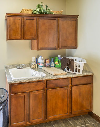Utility Room with Recessed Cabinets