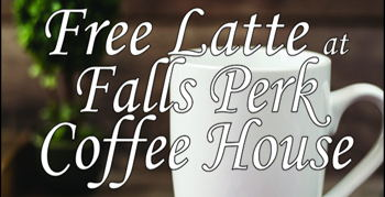Image for Free Latte at Falls Perk Coffee House