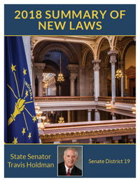 2018 Summary of New Laws - Sen. Holdman