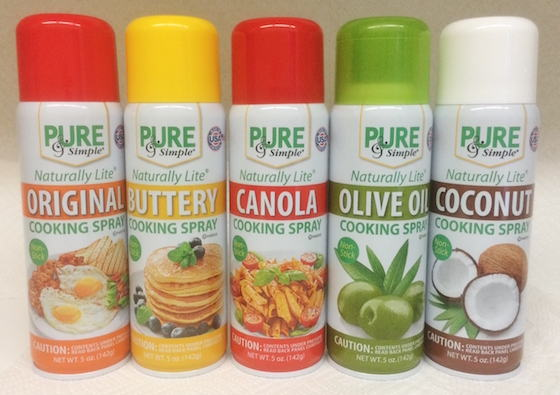 Pure and Simple Cooking Sprays
