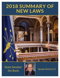 2018 Summary of New Laws - Sen. Buck