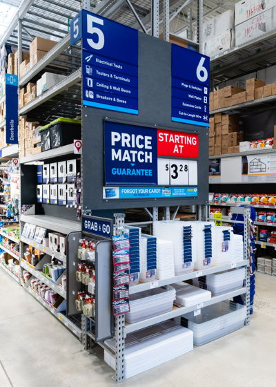 End Cap Pricing Lowes