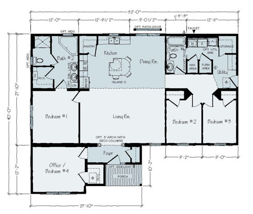 Floorplan of Davis Series