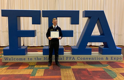 Image for Graduate Wins National FFA Award