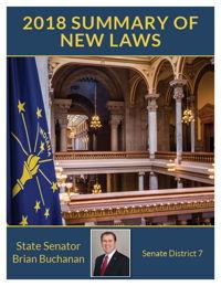 2018 Summary of New Laws - Sen. Buchanan