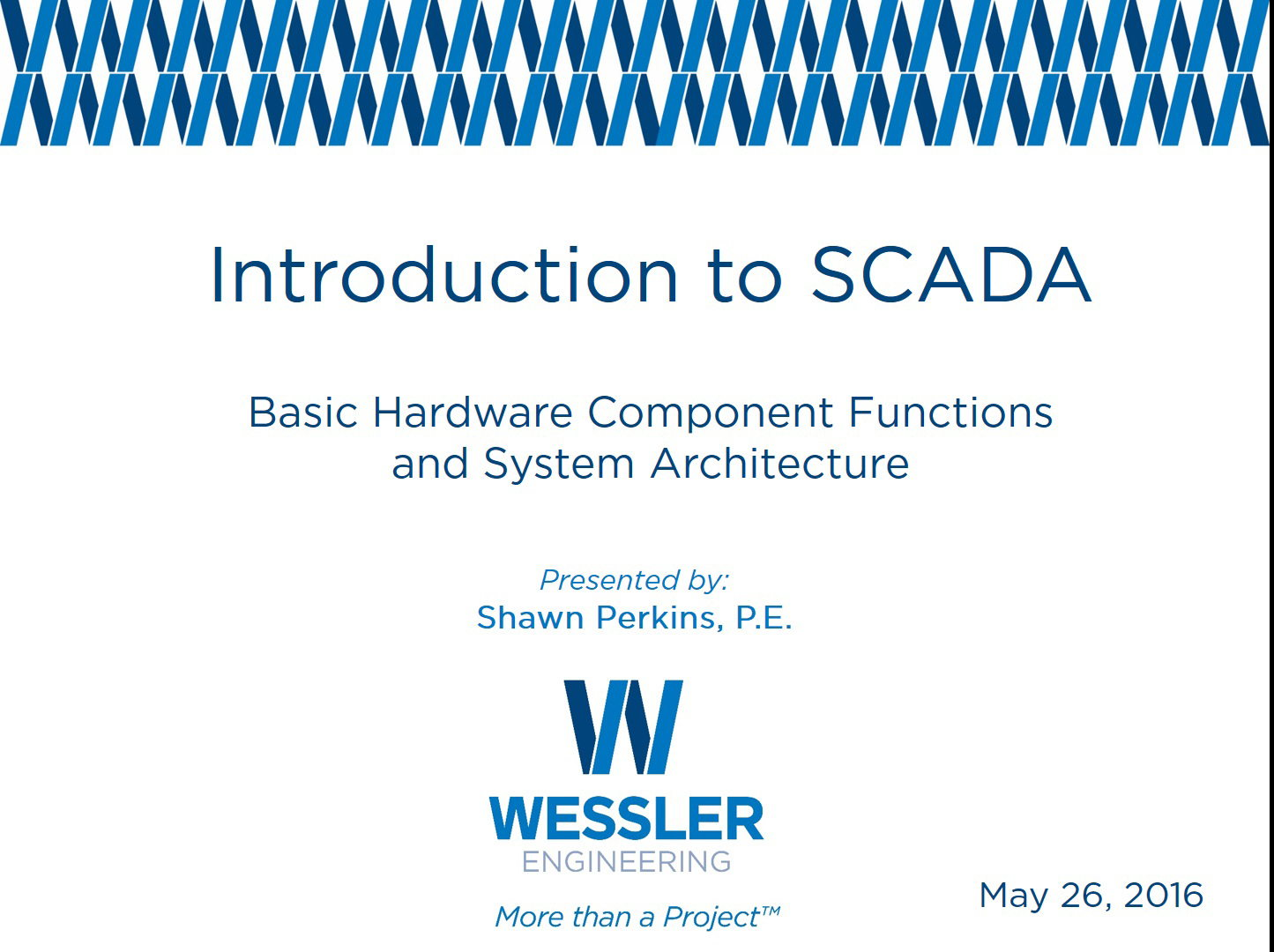 Intro to SCADA: Basic Component Functions and Architecture