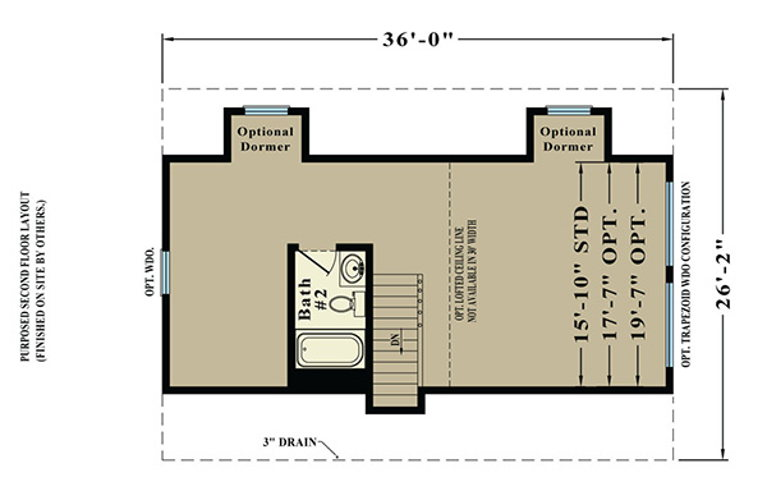 Second Floor Blueprint for Alpine