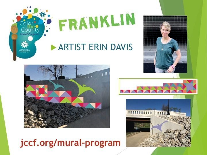 2018 Color the County Franklin mural artist and design