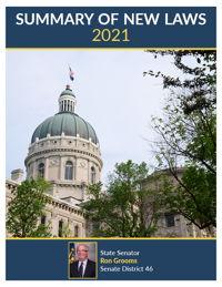 2021 Summary of New Laws - Sen. Grooms