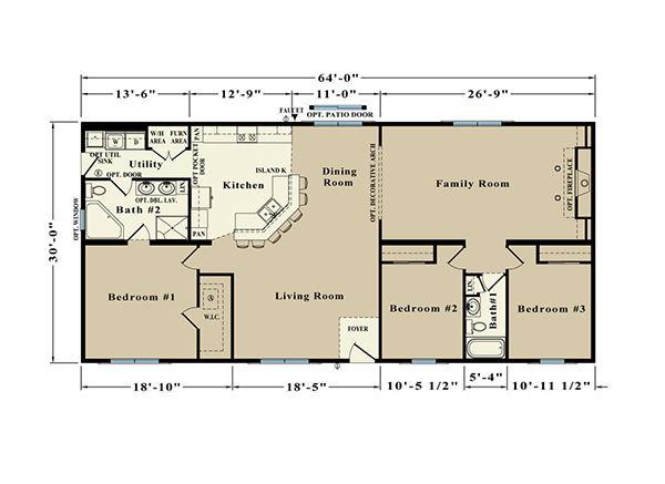 Allen Towne JR22A Floor Plan