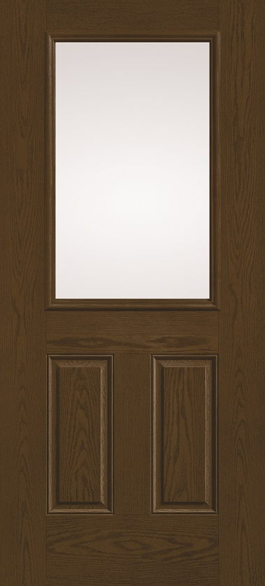 THERMA TRU HALF GLASS WOOD GRAIN DOOR