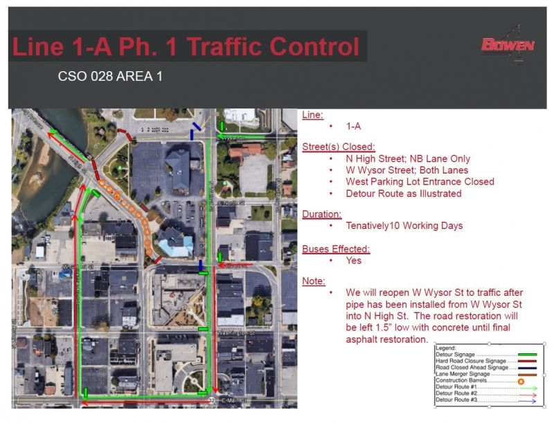 traffic control map