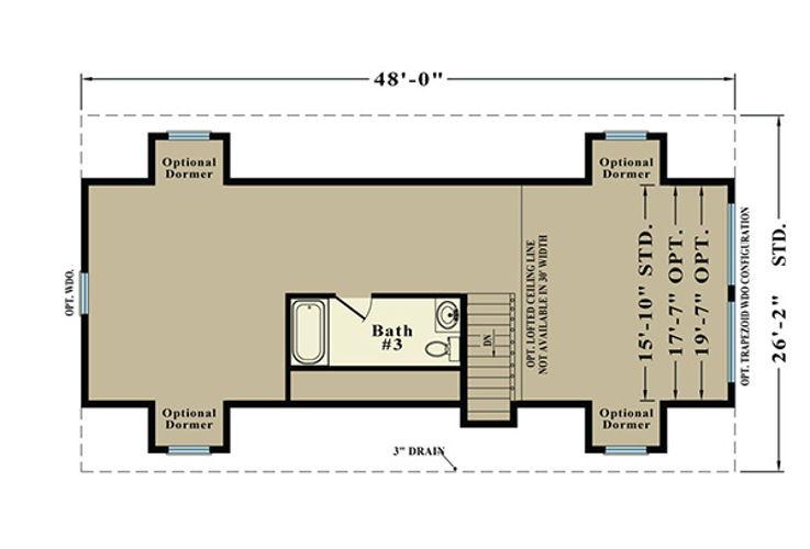 Second Floor Blueprint for Aurora