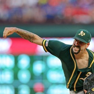 Image for Clean-shaven A's starter Mike Fiers reveals story behind strange beard